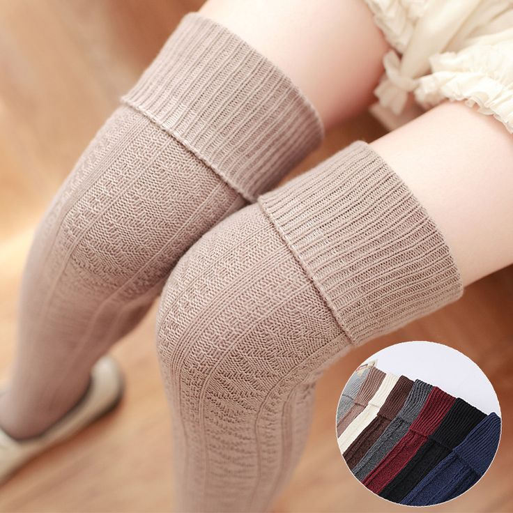 2017 Sale Solid New Winter/autumn Thickness Women High Quality Pantyhose Needle Cotton Knee Socks Tube Stockings Free Shipping