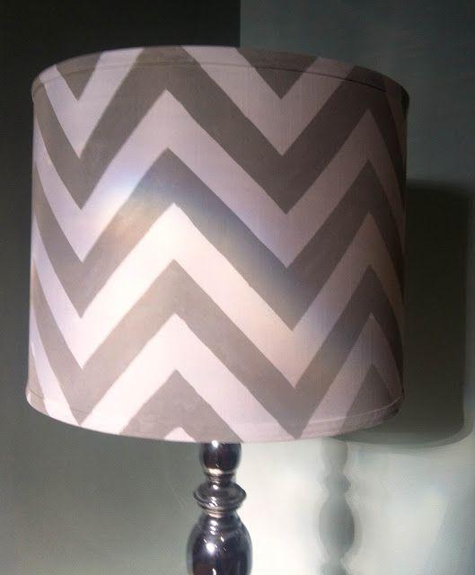 DIY: Chevron Painted Lamp Shade