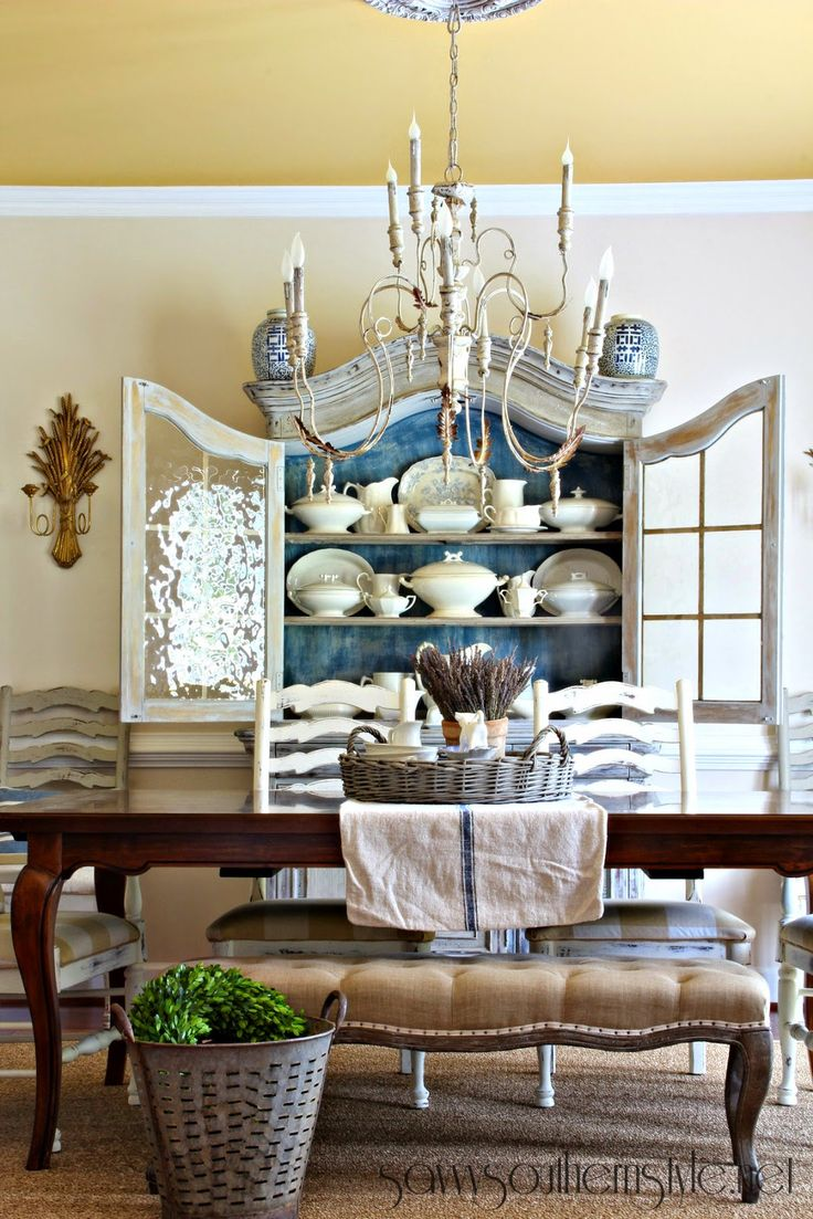 French country dining room - French Country Dining Room 56