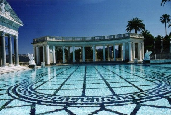 73 best hearst mansion castle calif images on pinterest - Hearst castle neptune pool swim auction ...