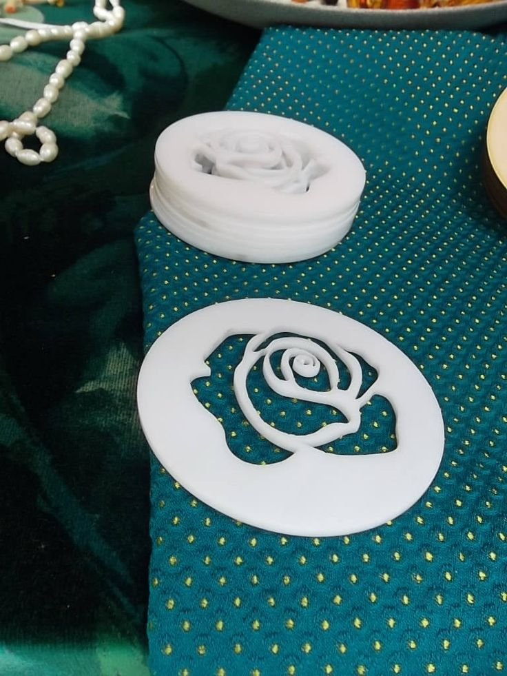Set di 6 sottobicchieri taglio laser plexiglass immagine Rosa di ImprontaCreativaMac su Etsy