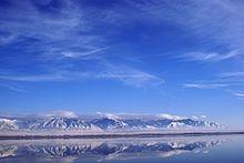 A portion of theGreat Salt LakeinUtah, United States
