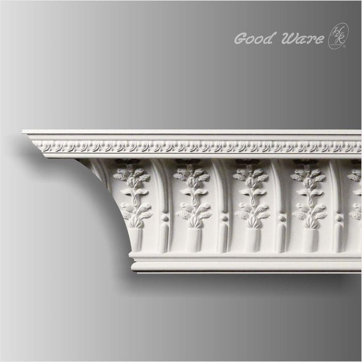 Latest Antique crown molding huge scale cove detailed with separated individually formed gracefully carved flower forming an excellent transitional ornamental In 2018 - Simple crown molding measurements Review