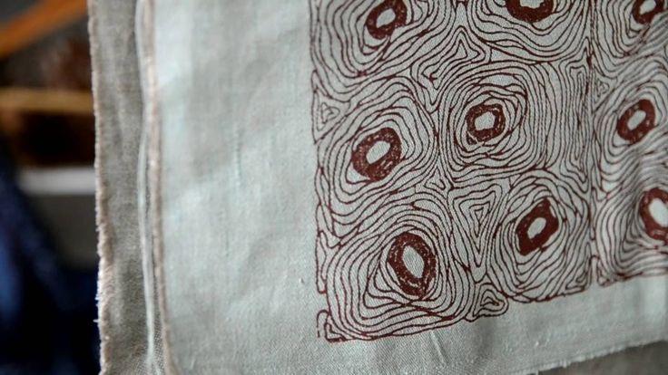 Верховая набойка  Нанесение рисунка на ткань