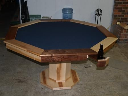 Poker Table With Hiding Beverage Holder Do It Yourself