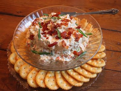 clams casino dip with herb-butter baguettes