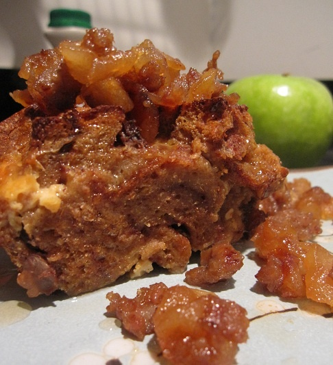 Rum Raisin French Toast Bread Pudding with a Maple Apple Sausage ...