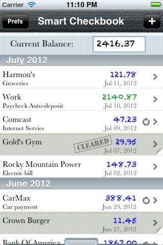 simple affordable checkbook app i need this so i can see how much i