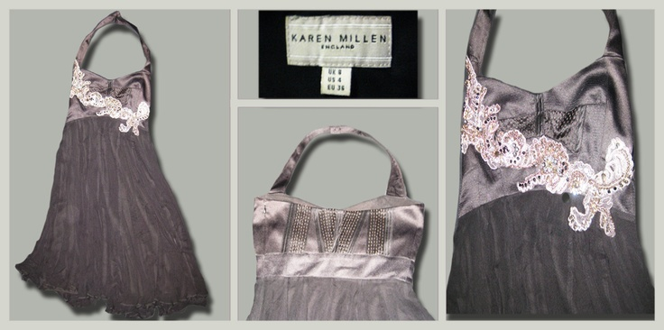 Karen Millen, Halter with sequenced Embellishments. Size: 8, $20. #black #fashion #sale Visit our Facebook!