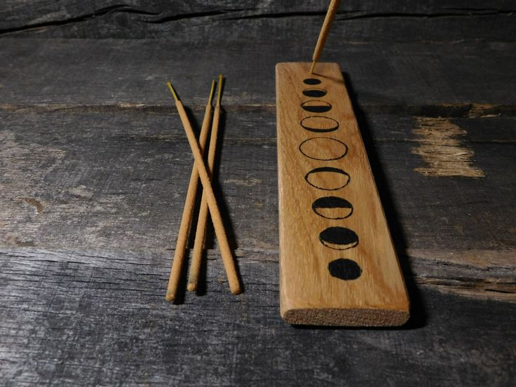 Moon Phase Incense holder by TheWoodWeaver on Etsy https://www.etsy.com/listing/255358782/moon-phase-incense-holder