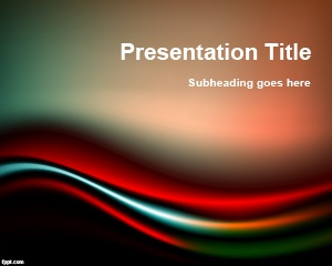 Black & Red PowerPoint Template is a free abstract PowerPoint background with curves and shocking colors