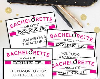 Printable Bachelorette Party Game by AppleInvitations on Etsy