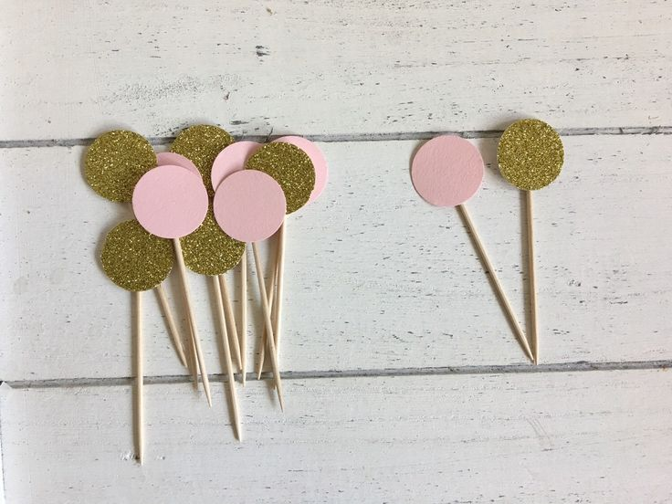 A personal favourite from my Etsy shop https://www.etsy.com/listing/272313074/pink-and-gold-cupcake-toppers-gold-pink