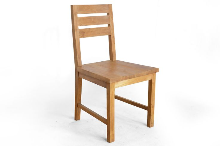 Commercial dining chair made of teak solid wood