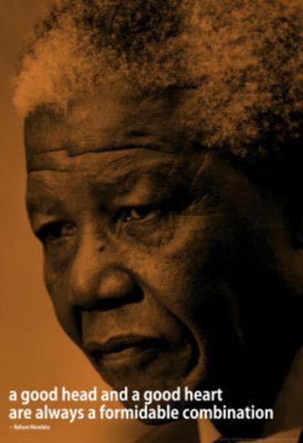 Nelson Mandela Quote iNspire Motivational Poster Masterprint at AllPosters.com