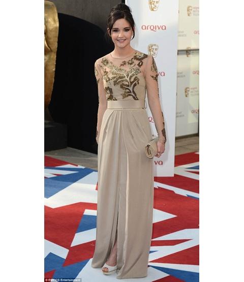 Jacqueline Jossa @ the BAFTA Awards in ALDO peep toes!