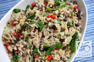 Vegan Mediterranean Rice Salad