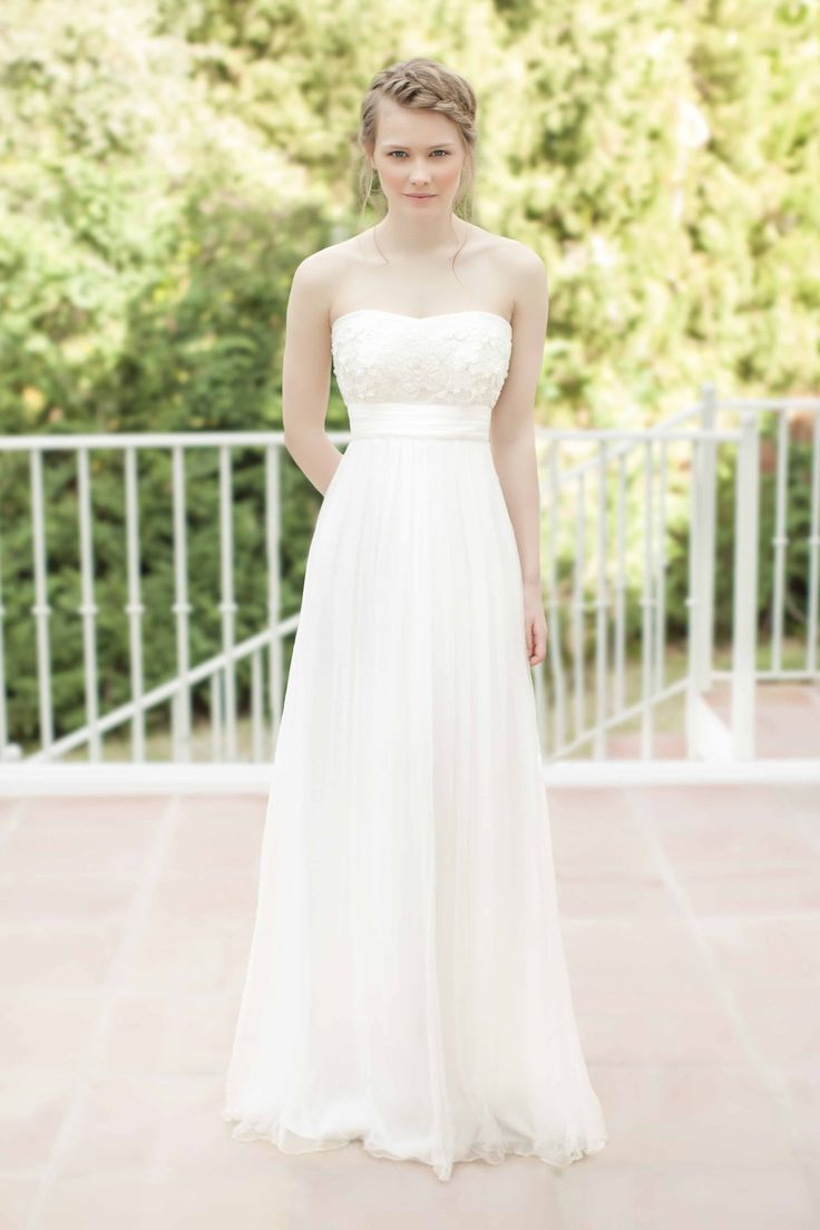 Best wedding dress boutiques in london  SADONI dress NOVA in draped silk tulle with beaded lace top  SADONI