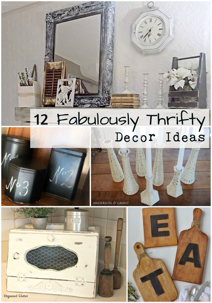 Decorate your home for less by refinishing thrift store decor!  Simple home decor ideas from some of our favorite sites.  Read it here: https://vintageandrestorebyk.com/blogs/news/12-fabulously-thrifty-decor-ideas