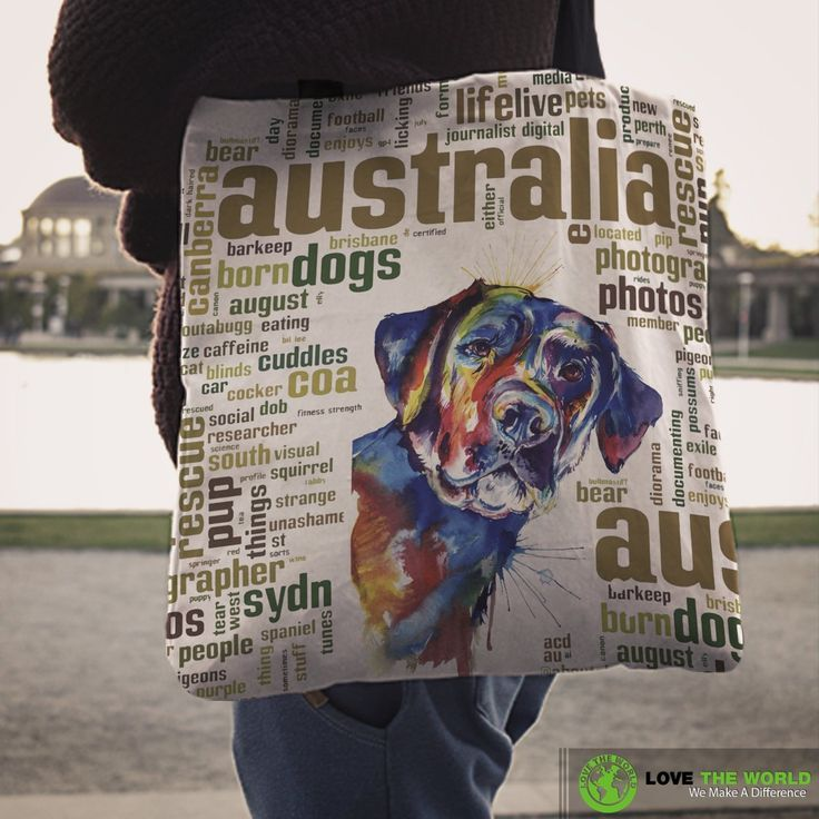 Australia Tote Bags Labrador Retriever Dog With Wordle Words Nn6 Labrador Retriever Dog Retriever Dog Labrador Retriever