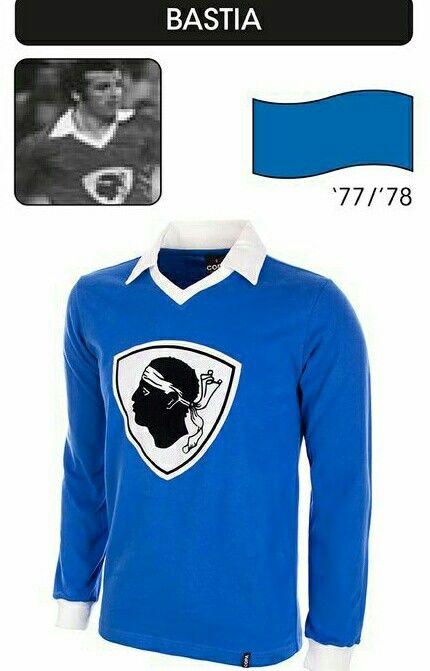 SC Bastia of France home shirt for 1977-78.