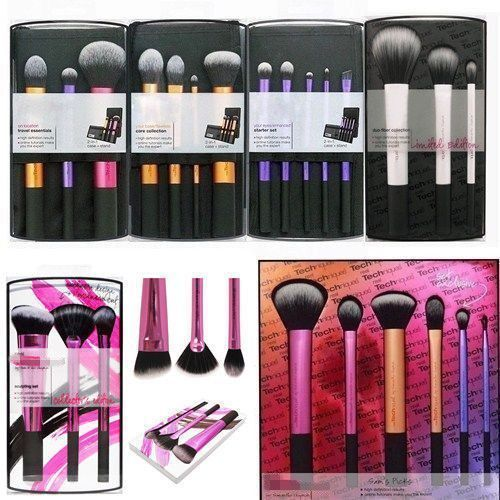 HOT Pro Real TECHNIQUES Makeup Brushes Core Collection/Starter Kit/Sam+Nic Pick#