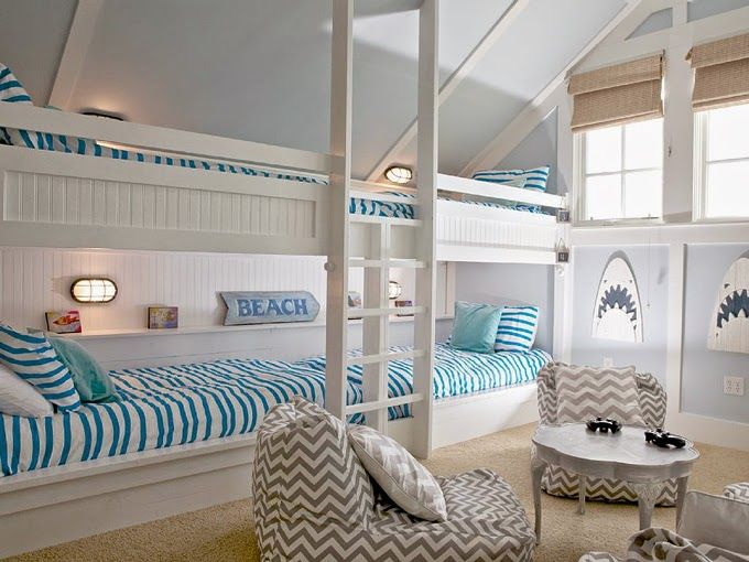 17 Best images about Bunk Rooms – Kids Beach Bedroom
