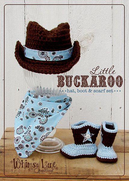 Baby Cowboy Hat Boots Bandana Boy Set Little by whimsylaneboutique, $45.00