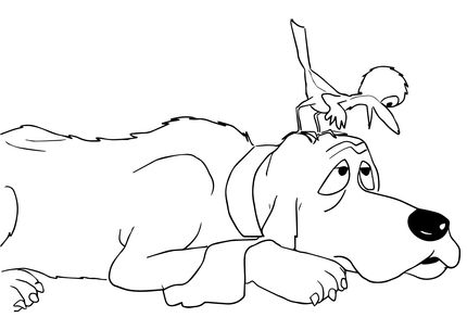 Are You my Mother Baby Bird Said to Dog coloring page