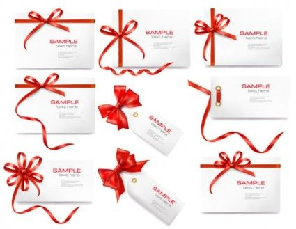 69 best free vector images on pinterest set of card notes with red gift bows with ribbons vector shutterstock negle Image collections
