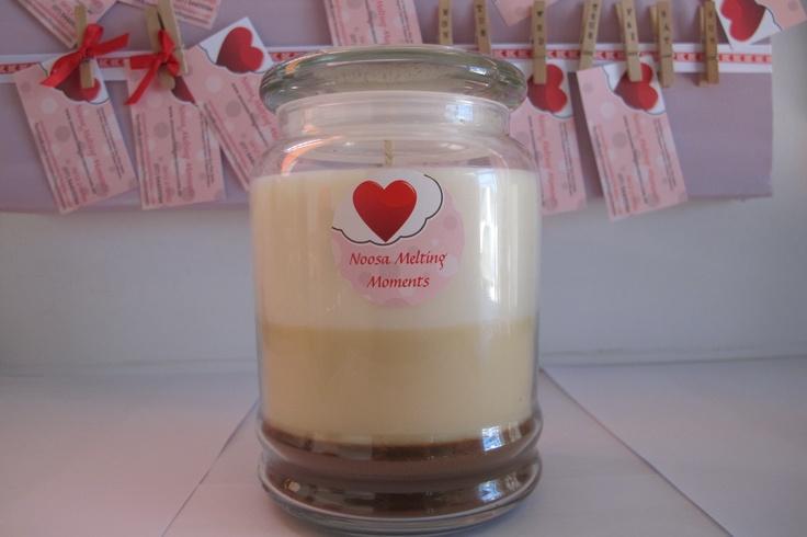 600g soy wax candle. Chocolate, Caramel & Vanilla