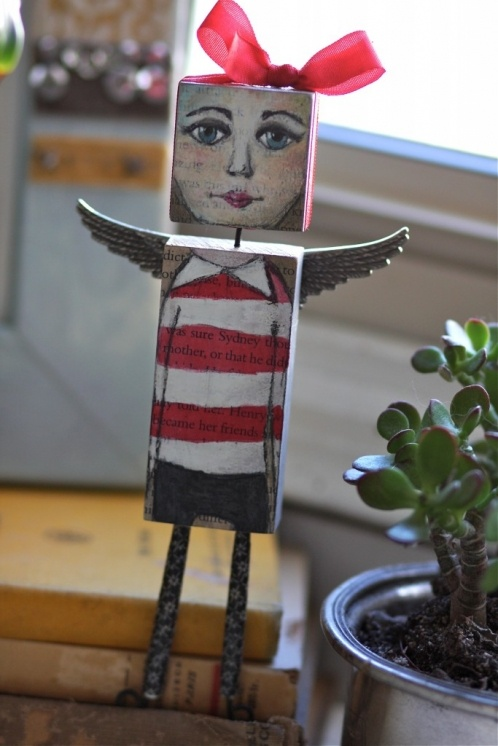 Painted Wooden Dolly