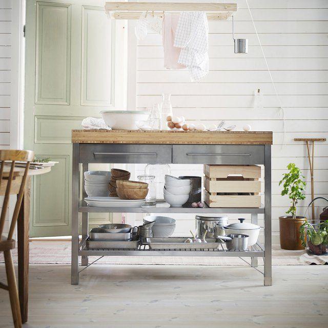 Îlot pour cuisine industrielle - Marie Claire Maison