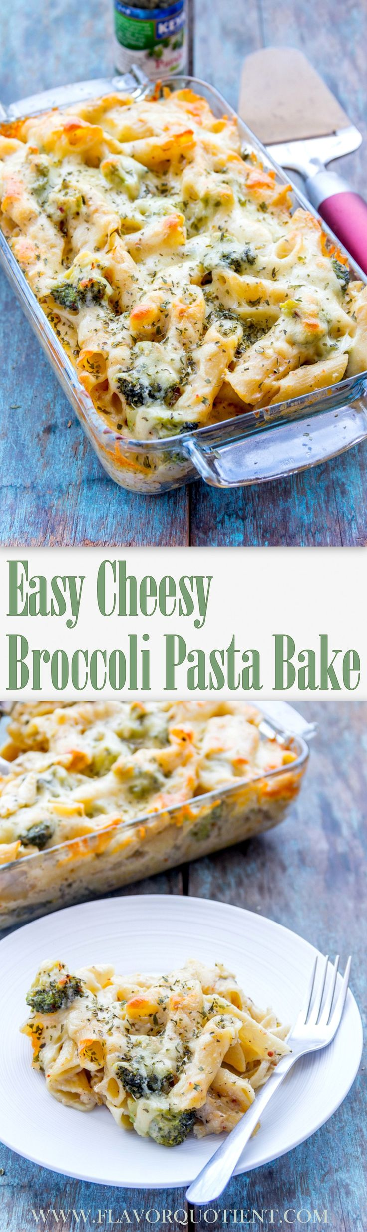 Easy Cheesy Broccoli Pasta Bake This easy cheesy pasta bake itself sounds so amusing that it is bound to bring a smile on your face as soon as you hear about it! Now take a look at it and see how your smile expands #BakedPasta #EasyPasta #EasyBAkedPastaRecipes #BakedPastaDishes #CheesyPasta #BroccoliPasta #Broccoli #CheesyBroccoliPastaBake #ItalianFood #PastaRecipes #Pasta #FlavorQuotient