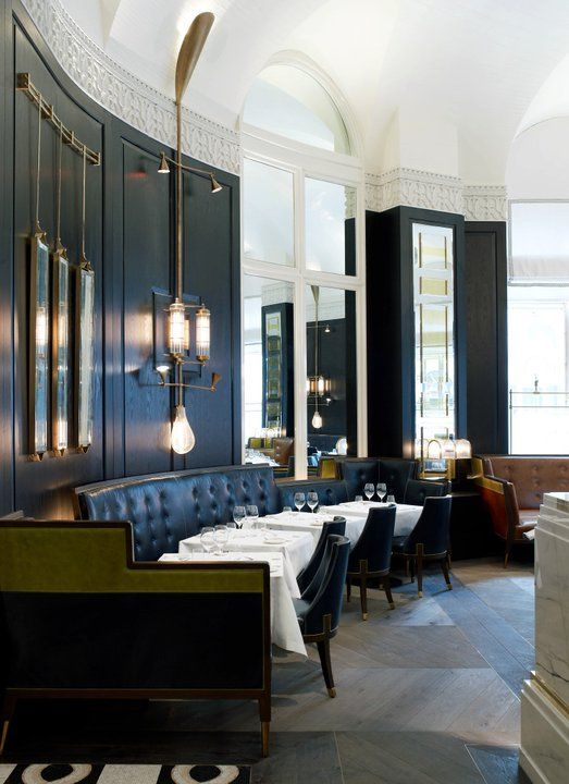 Massimo in Mayfair, an Italian restaurant designed by David Collins (he's also the visual impresario of the Wolseley.