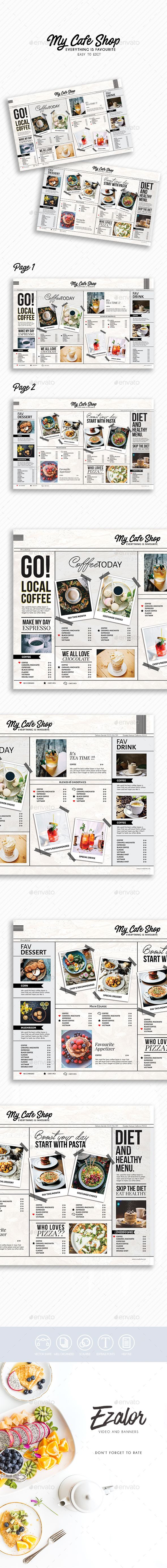 Best Restaurant Menu Template  Design Images On