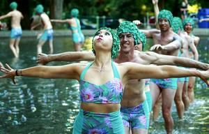 Her death was imminent and Briar Bates would turn it into art. After she died, her friends brought to life her last project — a joyful, awkward water ballet in the wading pool at Volunteer Park. (Lauren Frohne & Erika Schultz / The Seattle Times)