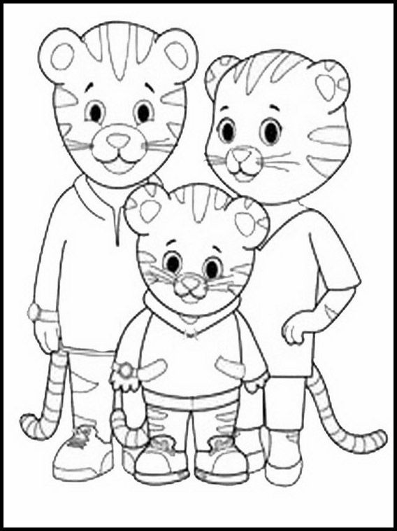 Coloriage Dessins à Imprimer Pour Les Enfants Daniel Tiger 2