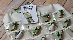 Creative ways to give Gift Certificates. What college student wouldn't LOVE getting this gift for Christmas?