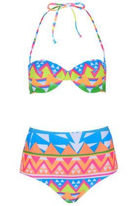 mara hoffman style Aztec Surf Bikini Set