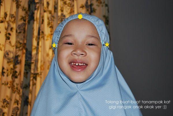Makcik Rehan: Tutorial Telekung Kanak-kanak