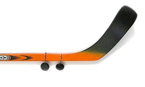 Hockey Room Decor | ... rod in ribbon for a splash of color to go with a shabby chic decor