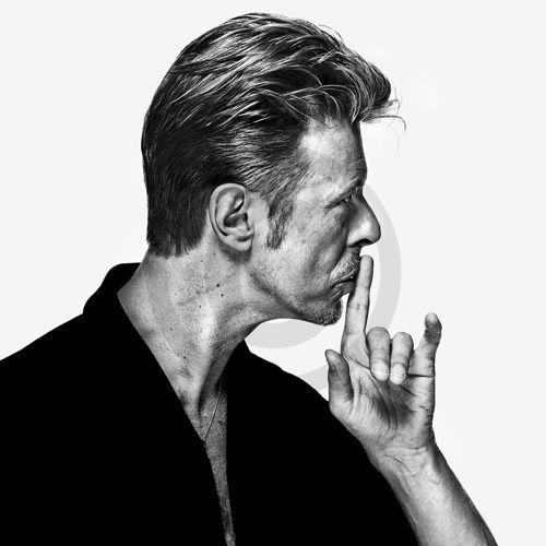 Iconic shot DB_08 of David Bowie by Gavin Evans taken from The Session in 1995.