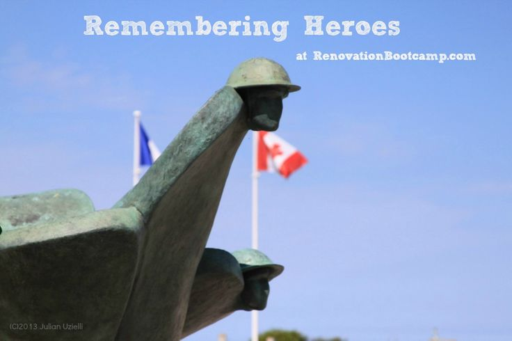 November 11th is Remebrance Day in Canada and Veteran's Day in the USA. Remembering Heroes today on RenovationBootcamp.com @sieguzi