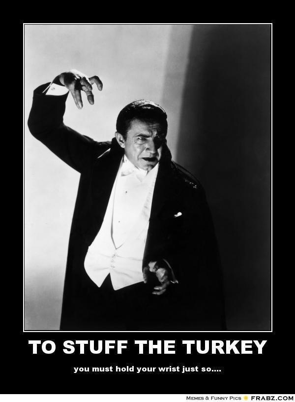 Dracula Stuffs the Turkey