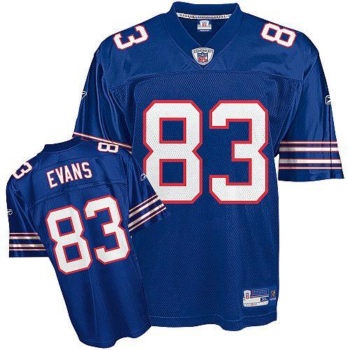 Reebok Buffalo Bills Lee Evans 83 Blue Authentic Jerseys Sale