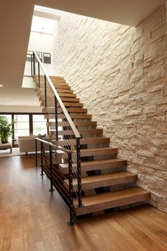 Linden Hills Contemporary - modern - staircase - minneapolis - by Andrea Swan - Swan Architecture