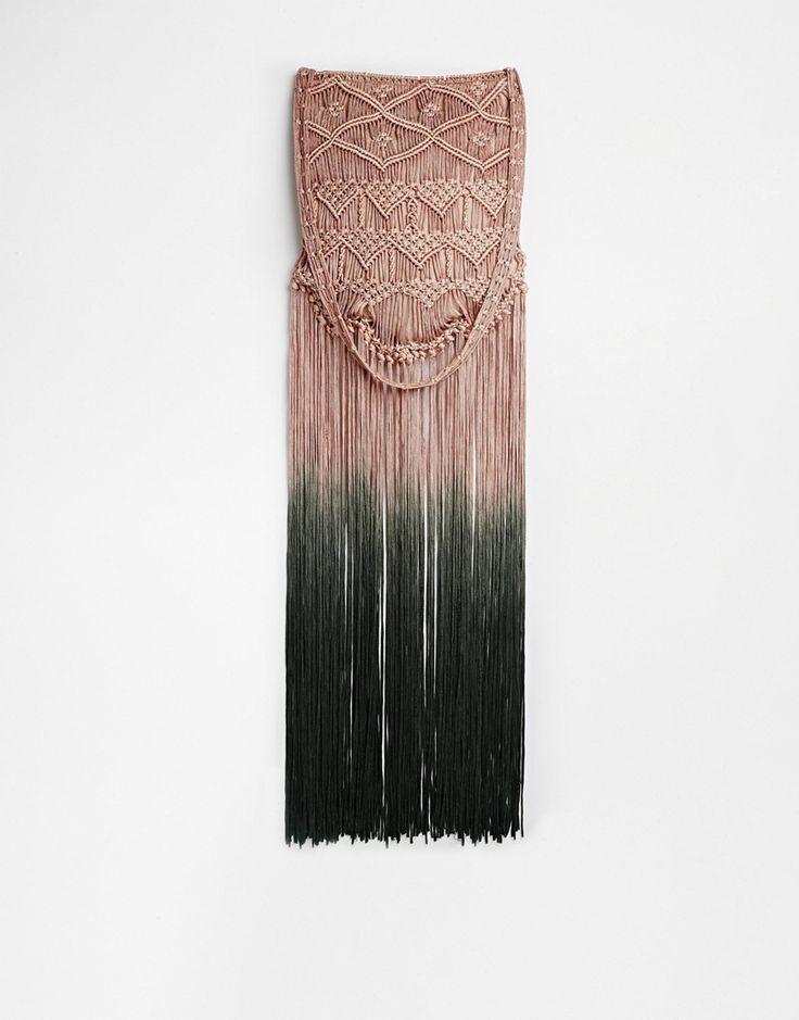 ASOS Maxi Fringe Shoulder Bag #fransen #boho #hippie  #farbverlauf