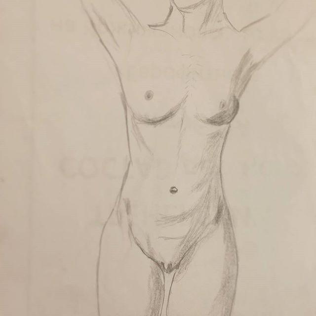 #art #sketch #skething #15min #nude #drawing #draw #обнаженка #наброски Модель Юля