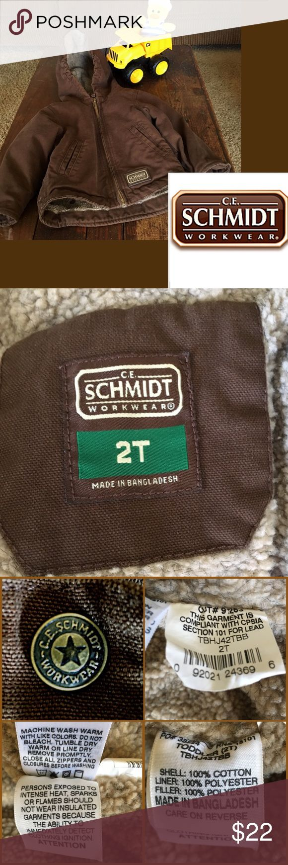"""Canvas Winter Coat by C.E. Schmidt Workwear """"sherpa"""" lined 